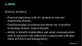 Role of Solution Architect in a Software Project (Vladimir Ivanov, SECR-2018).pdf