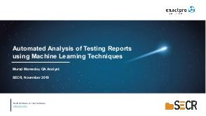 Automated Analysis of Testing Reports using Machine Learning Techniques (Мурад Мамедов, SECR-2019).pdf