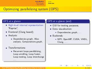 Why OPS (Optimizing Parallelizing System) May be Useful for Clang (Denis Dubrov, SECR-2017).pdf